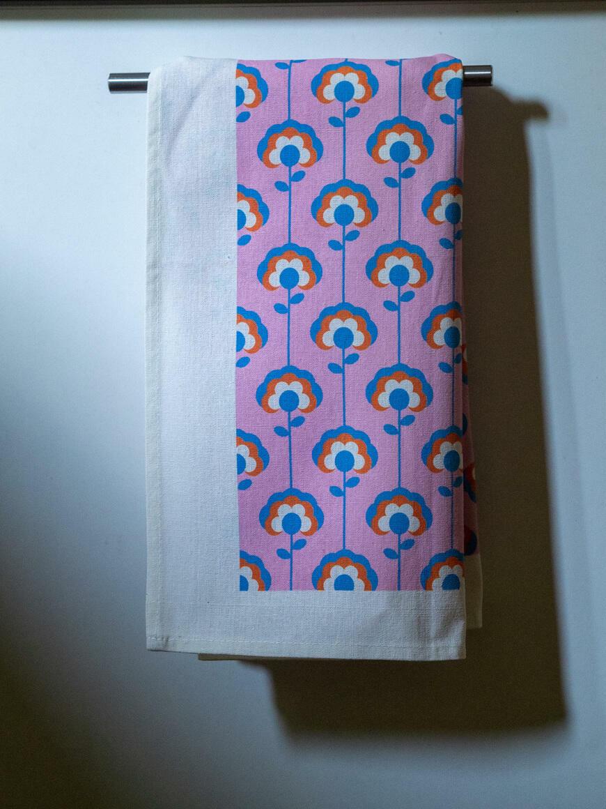 Daisy Lines Tea Towel   Trada Marketplace