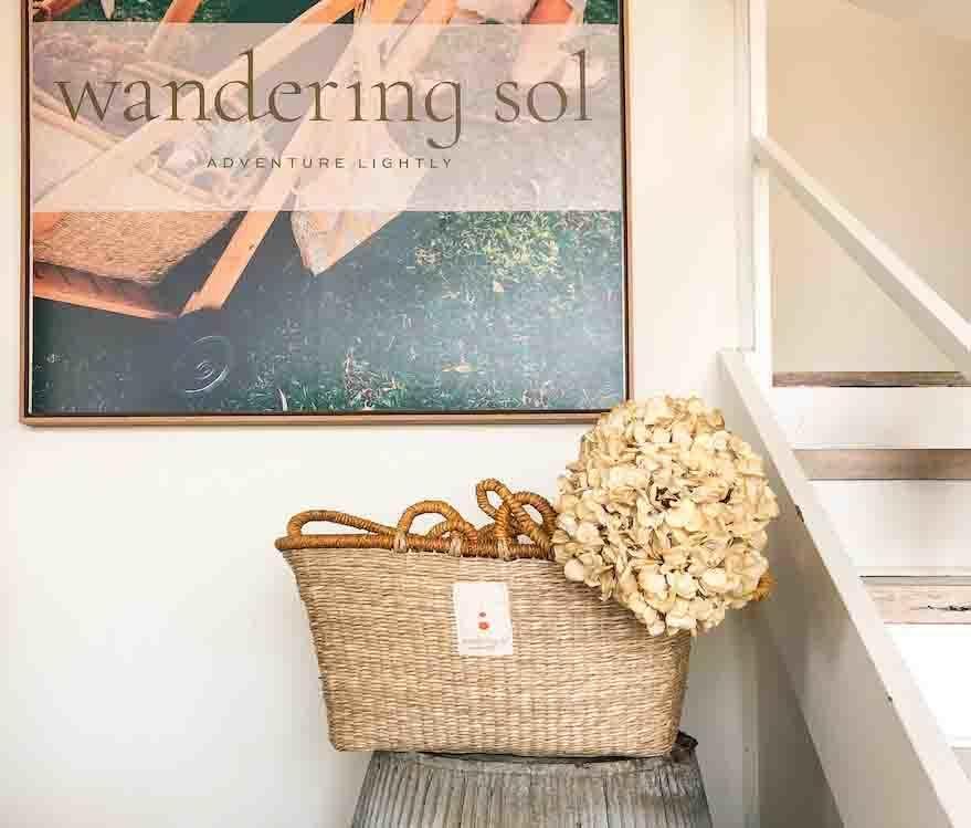 THE SOL SHOPPER seagrass basket | Trada Marketplace