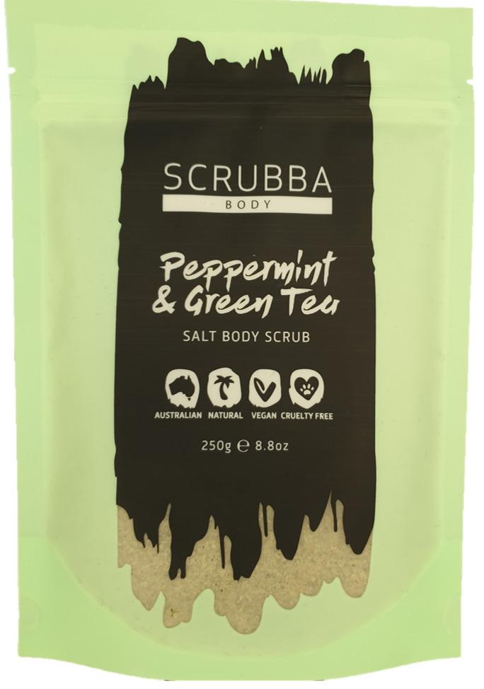 Peppermint & Green Tea Salt Body Scrub | Trada Marketplace