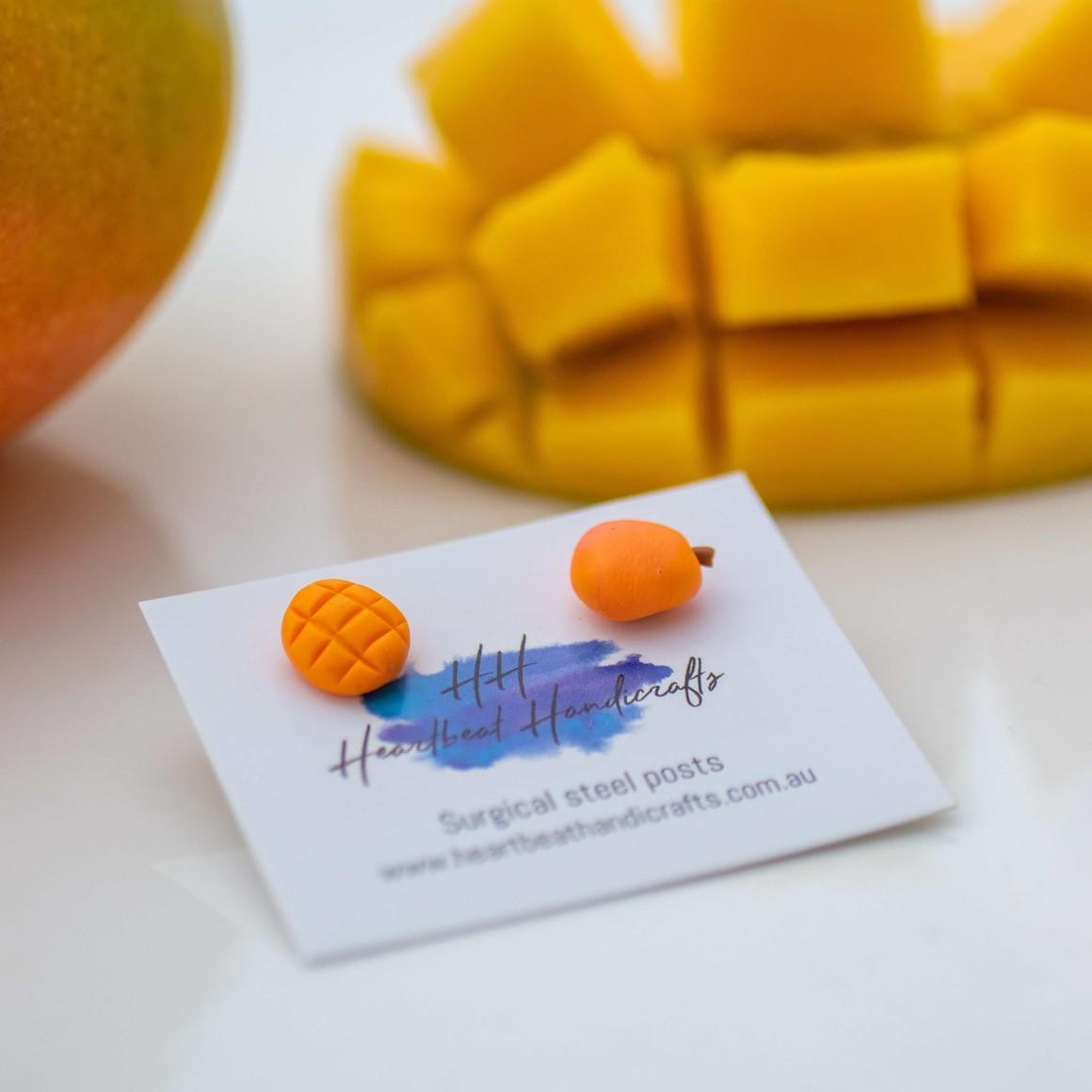 Mango handmade stud earrings   Trada Marketplace