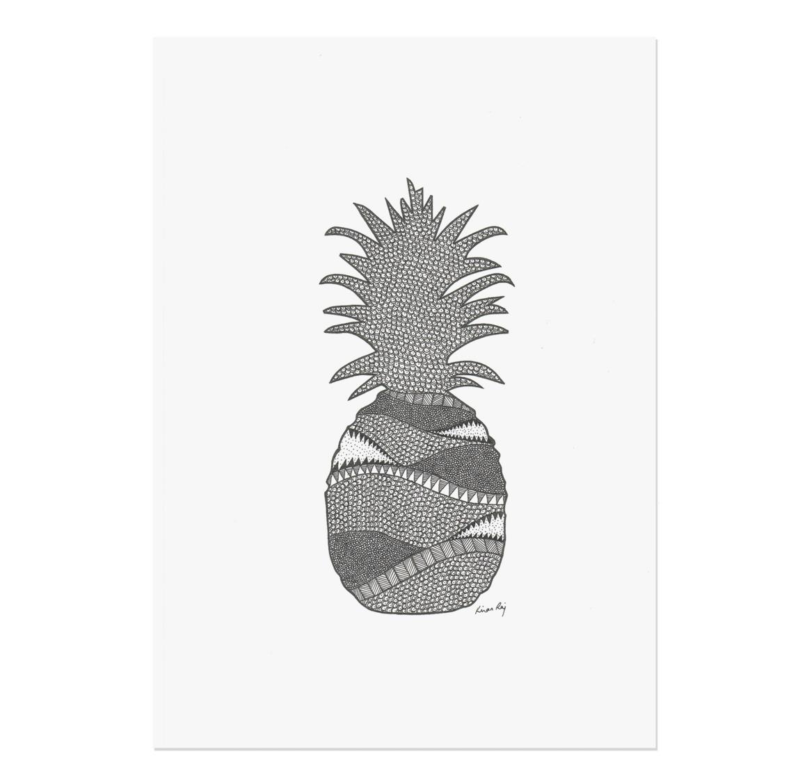 Pineapple Drawing Print | Trada Marketplace