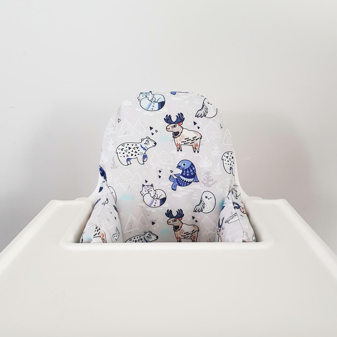 Highchair cushion cover - Arctic animals   Trada Marketplace