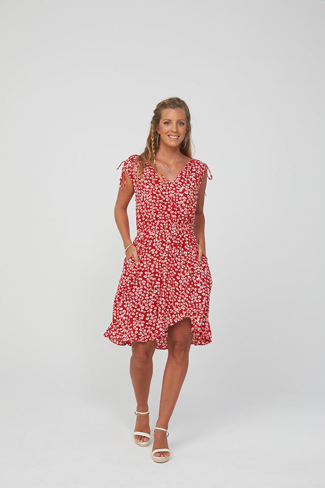 BOBBI Dress | Red Print | Trada Marketplace