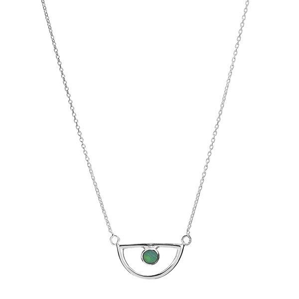 Half Circle Opal Necklace | Trada Marketplace