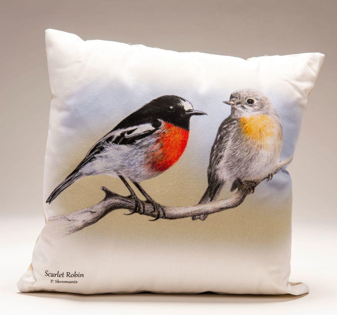 Cushion Covers - Scarlet Robin   Trada Marketplace