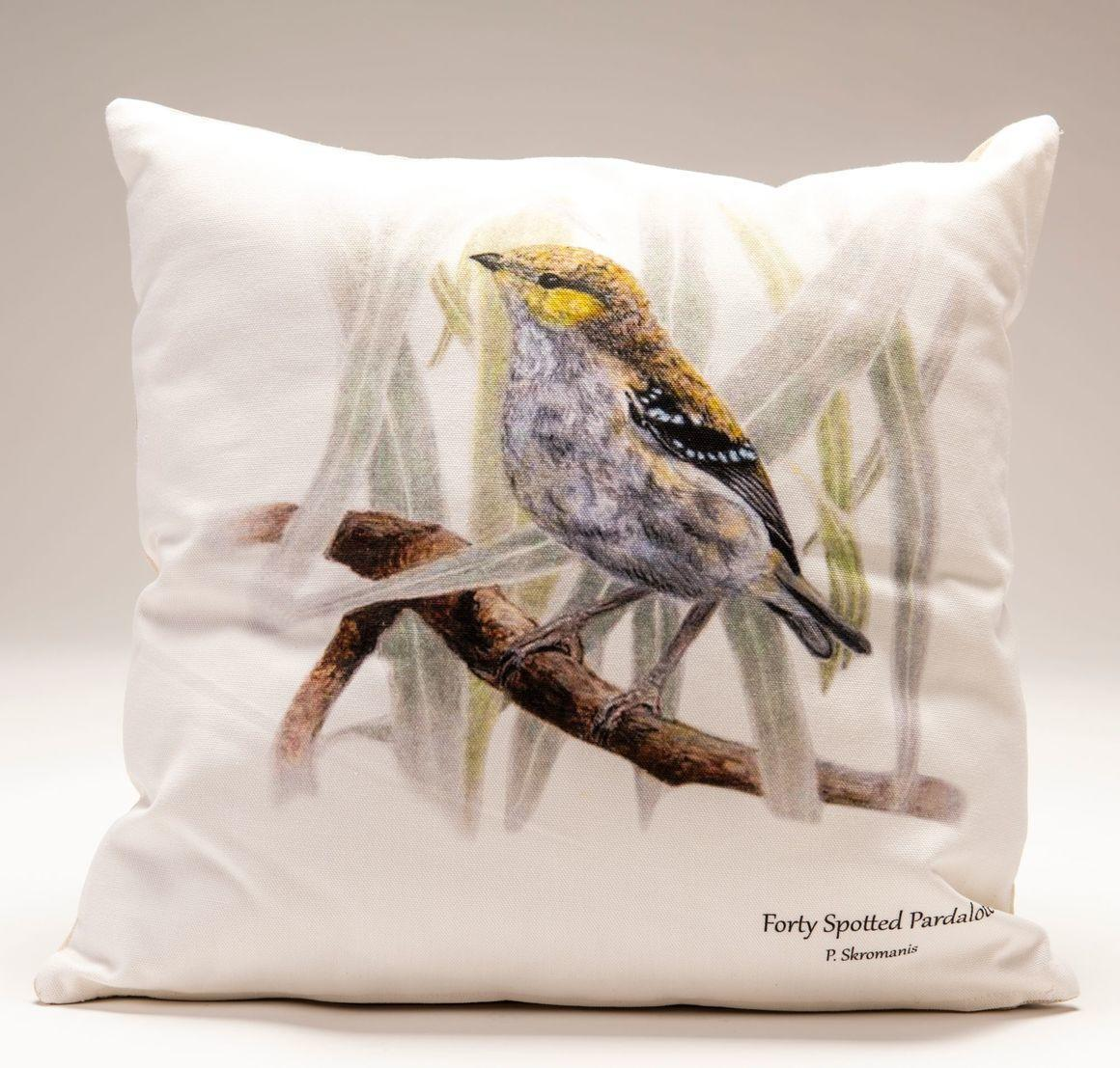 Cushion Covers - Forty-Spotted Pardalote   Trada Marketplace