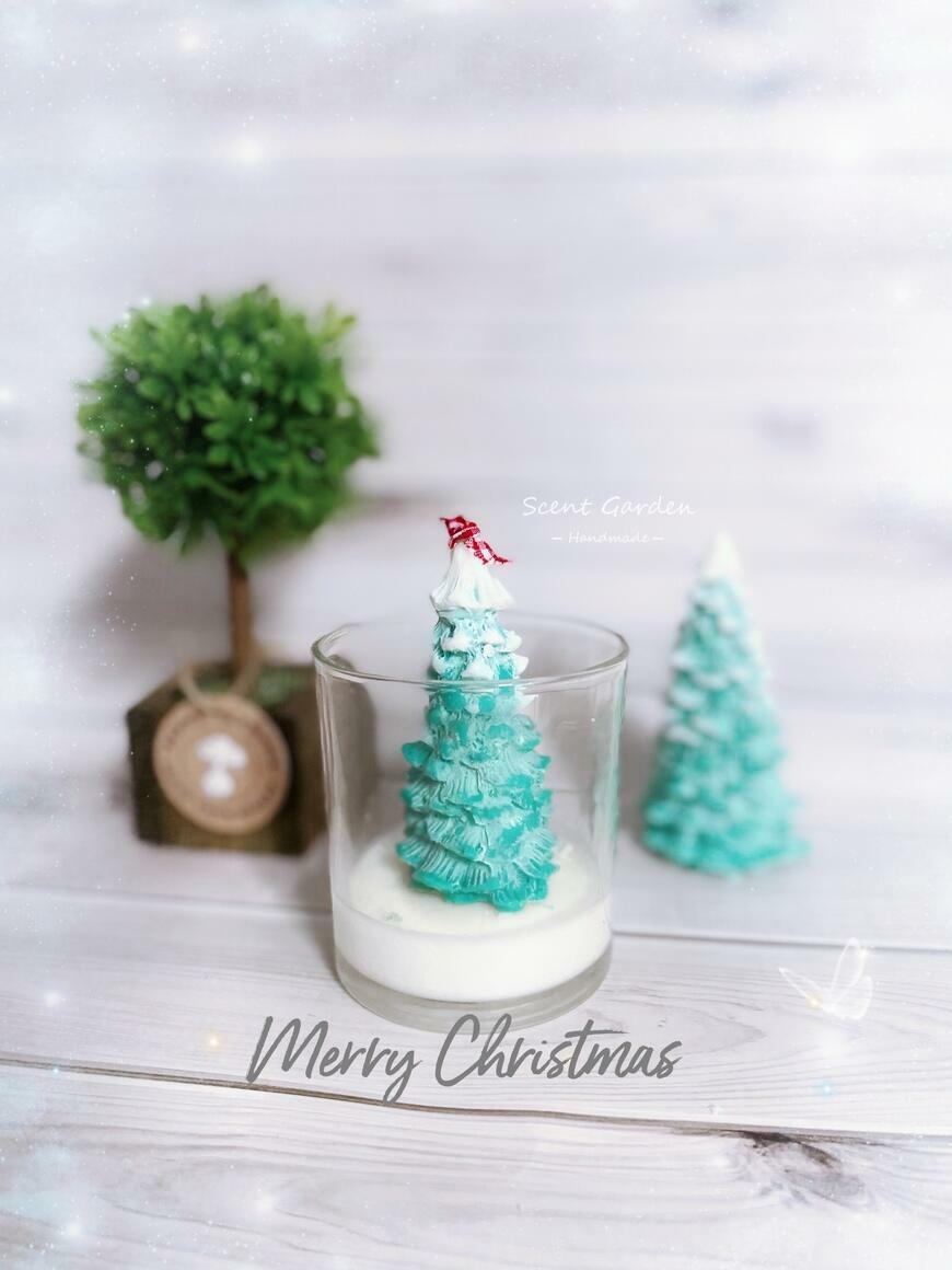 Christmas Tree Scented Candle Jar | Trada Marketplace