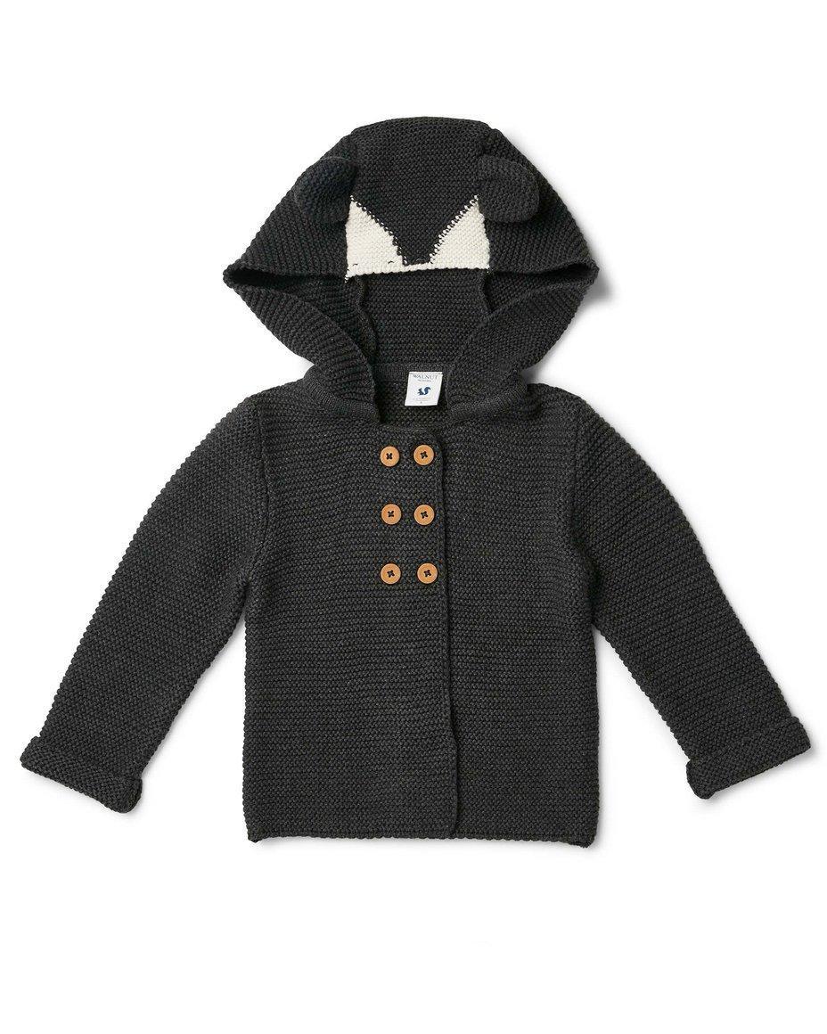 Jolie Hooded Cardigan Dark Charcoal | Trada Marketplace