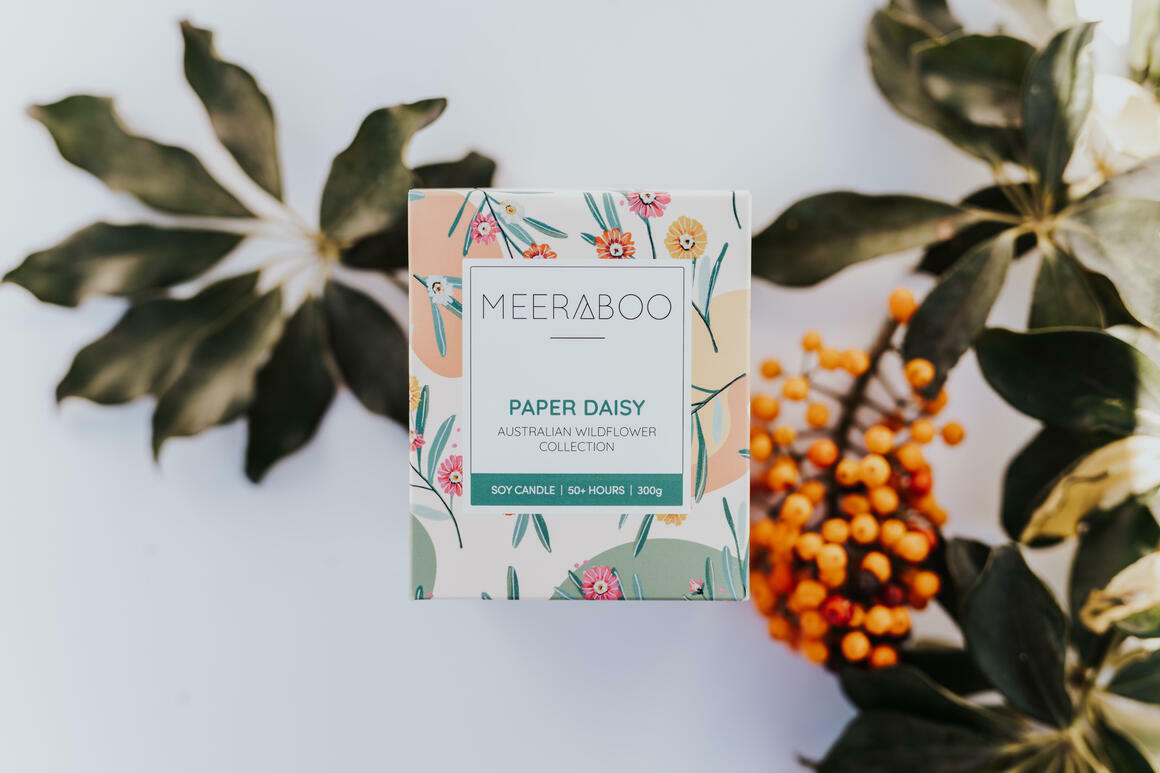 Paper Daisy Boxed Soy Candle | Trada Marketplace