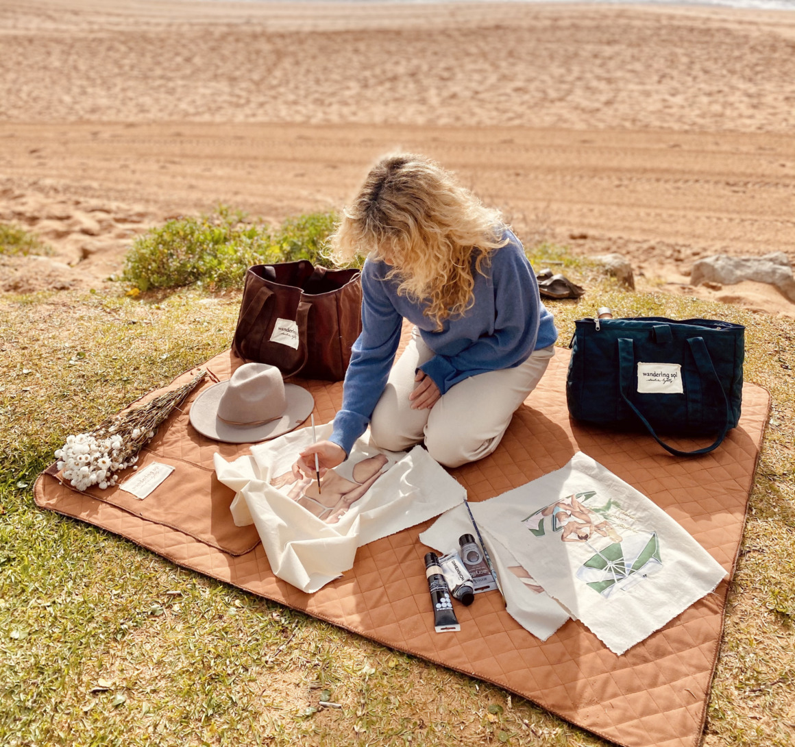 THE THROW DOWN quilted canvas picnic rug | Trada Marketplace