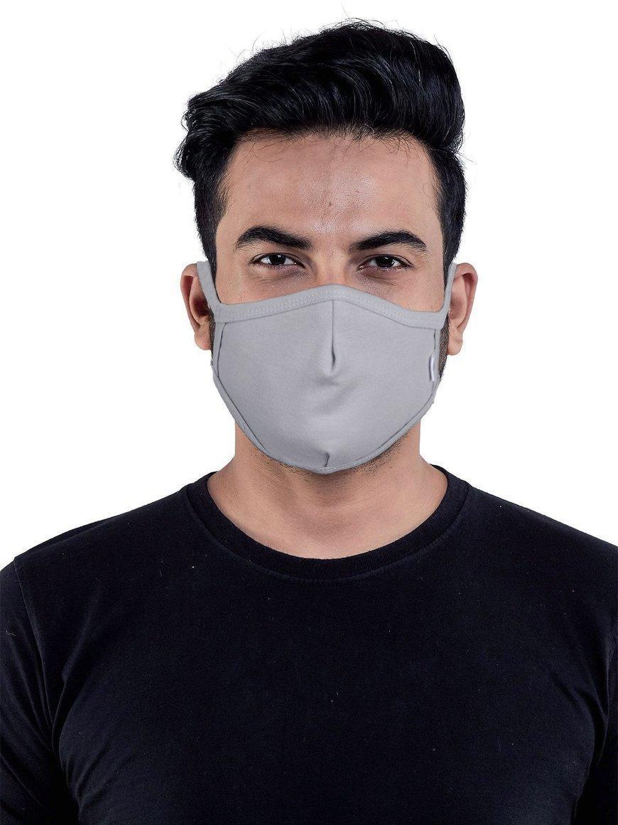 Grey-jersey-cotton-three-layer-mens-mask | Trada Marketplace