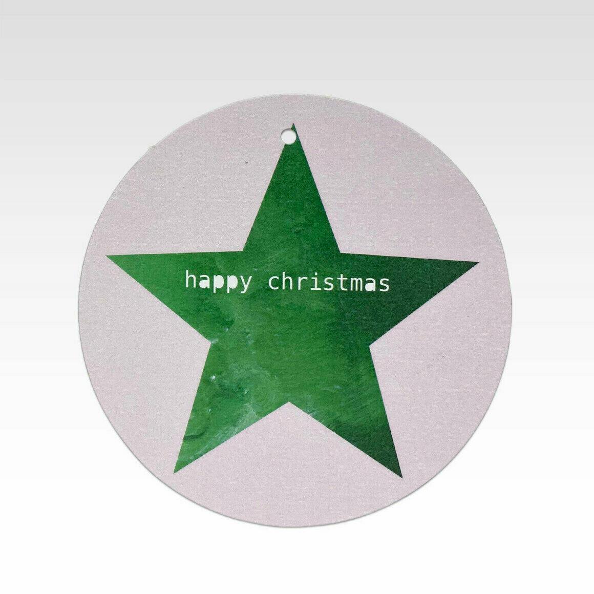 TAG081 – Green Star Happy Christmas   Trada Marketplace