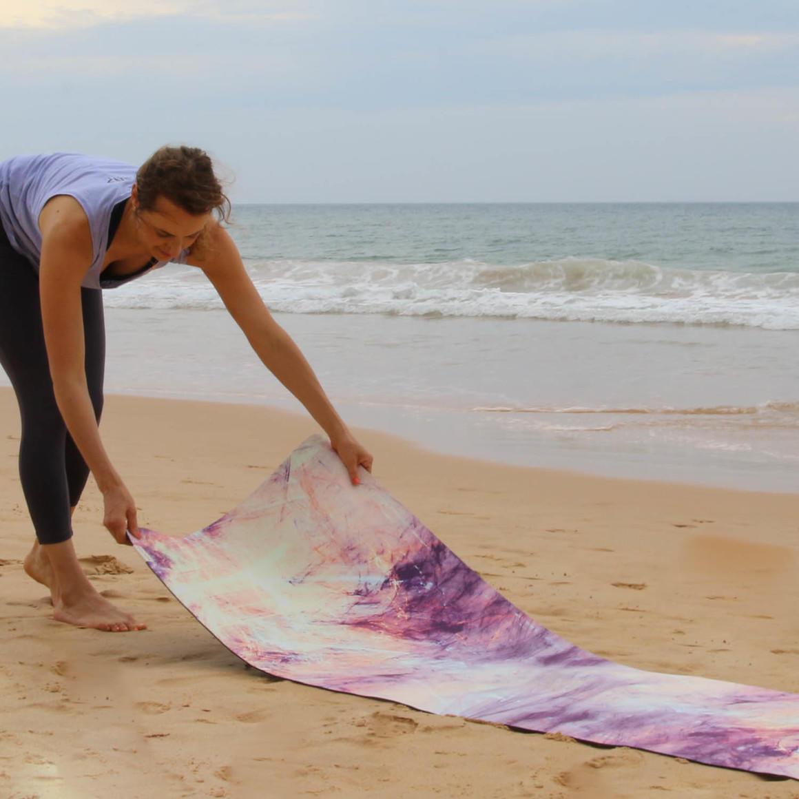 Travel Yoga Mat Mystic Marble | Trada Marketplace
