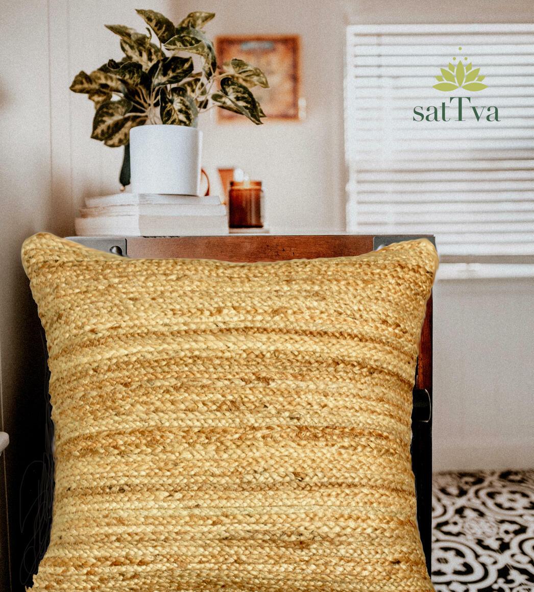 Avanī BOHO Handmade Decorative Braided Jute Cushions Cover | Trada Marketplace