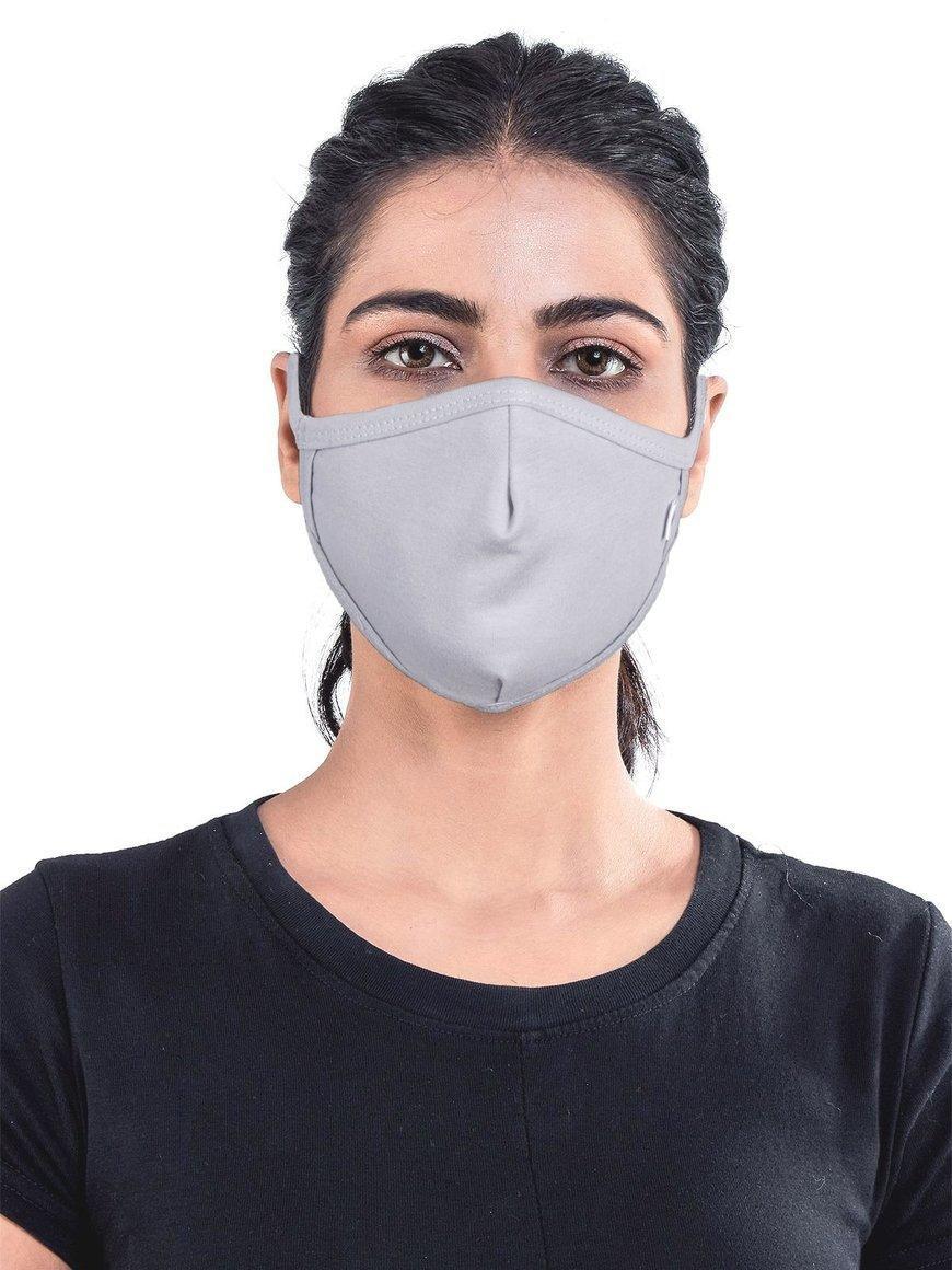 Grey-jersey-cotton-three-layer-womens-mask | Trada Marketplace