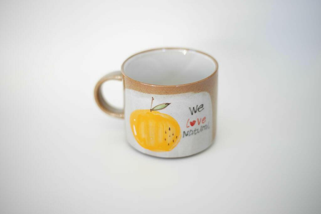 We Love Natural Mug-Orange   Trada Marketplace