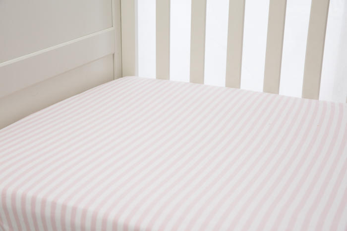 L'il Fraser Pink Stripe Fitted Sheet   Trada Marketplace