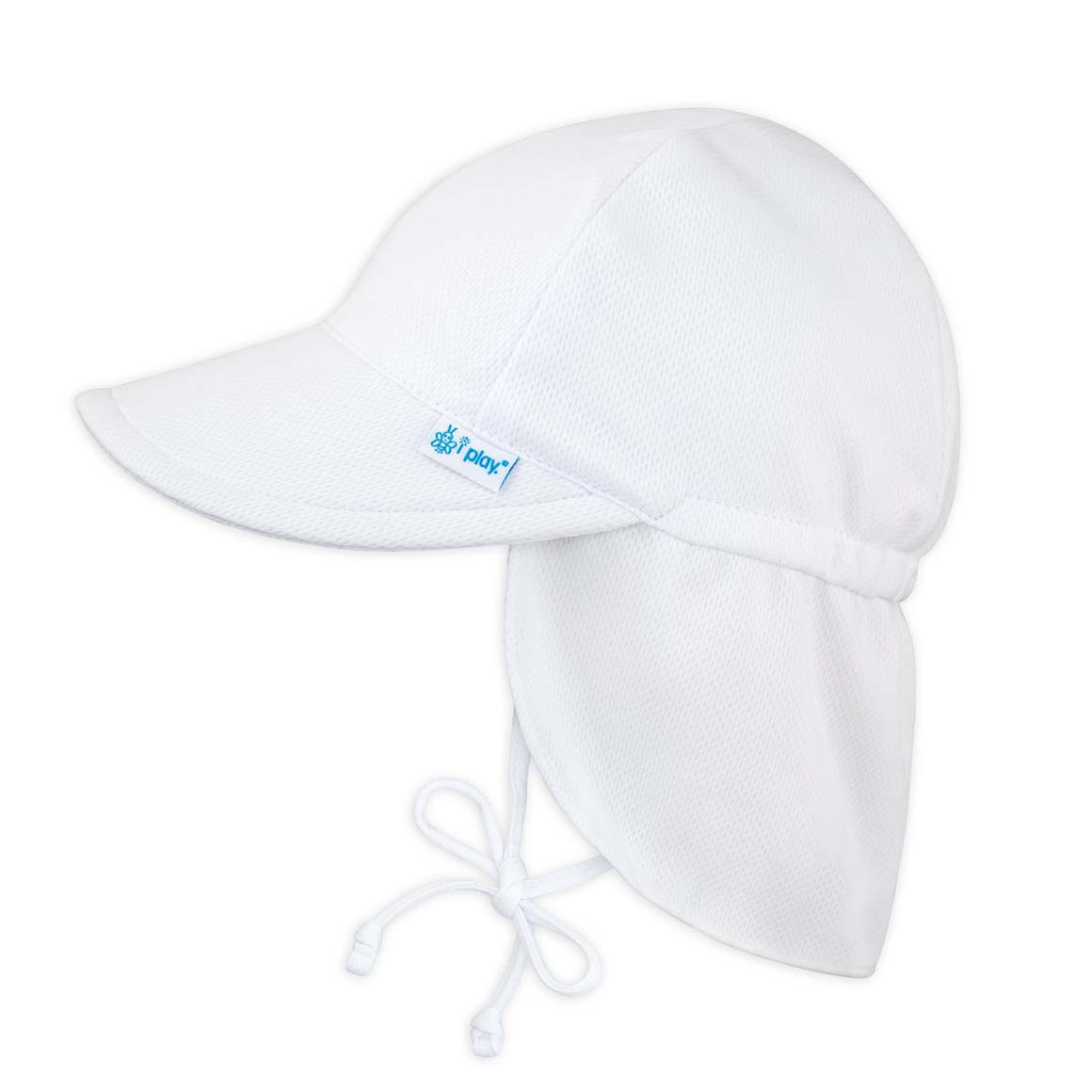 Breathable Flap Sun Protection Hat-White | Trada Marketplace