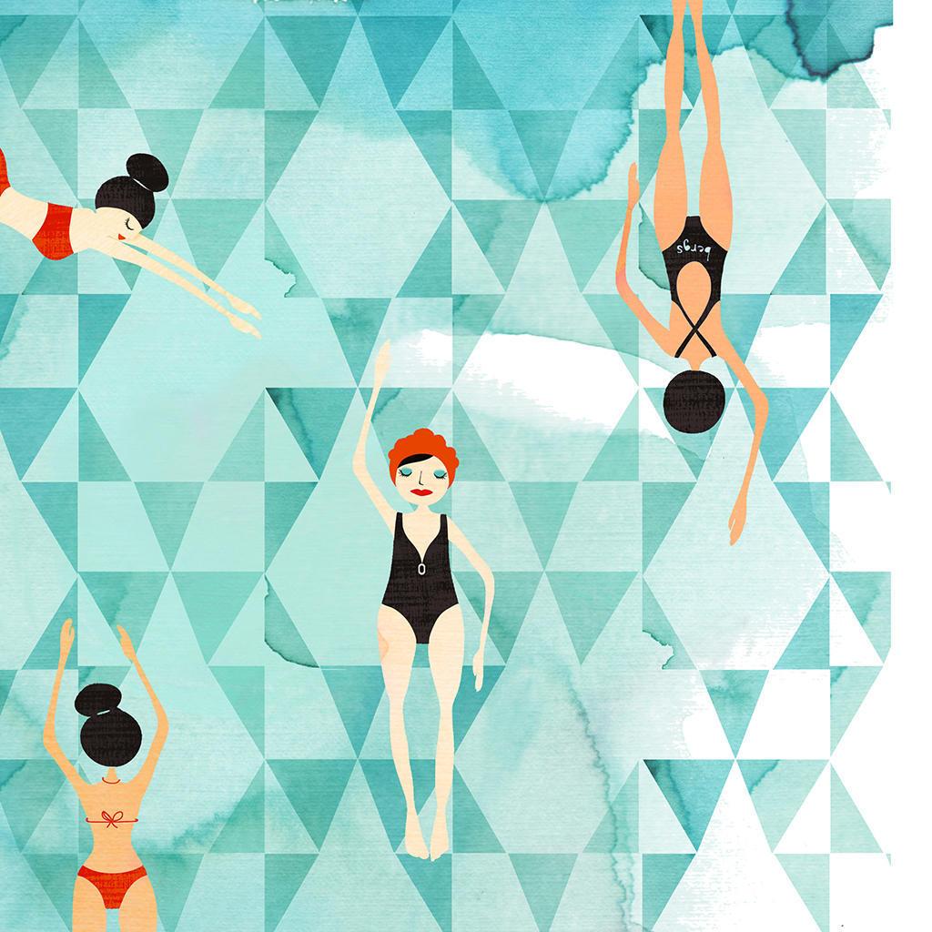 Winter Swim Art Print | Trada Marketplace