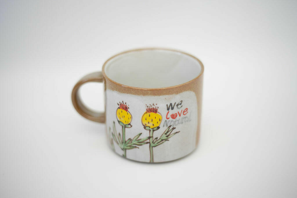We Love Natural Mug-2flower   Trada Marketplace