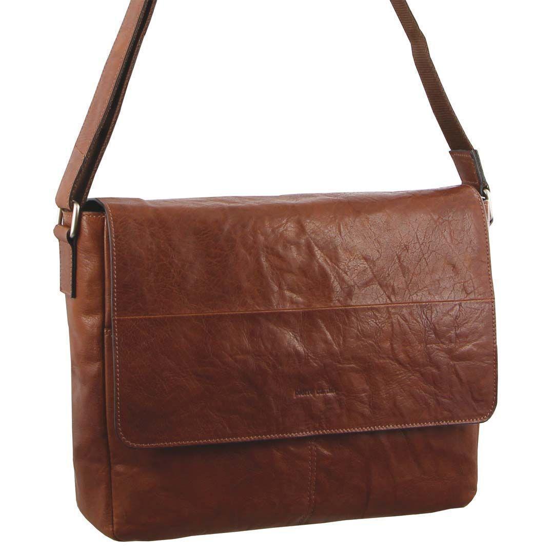 Pierre Cardin Rustic Leather Computer Bag/Satchel   Trada Marketplace
