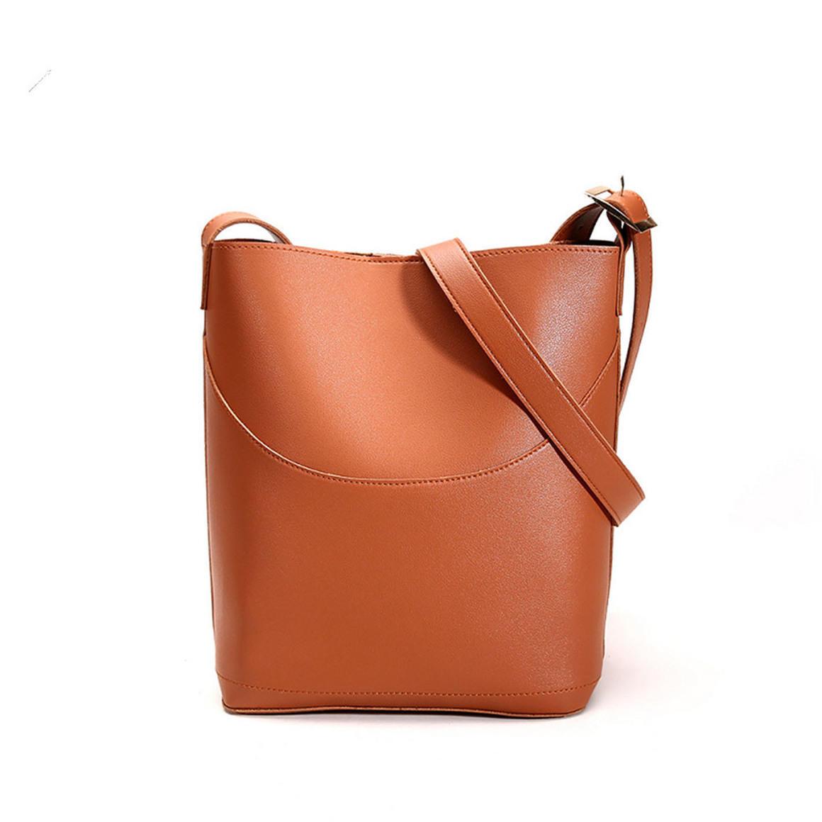 THSB1012: Tan: Eva Bucket Tote Bag | Trada Marketplace