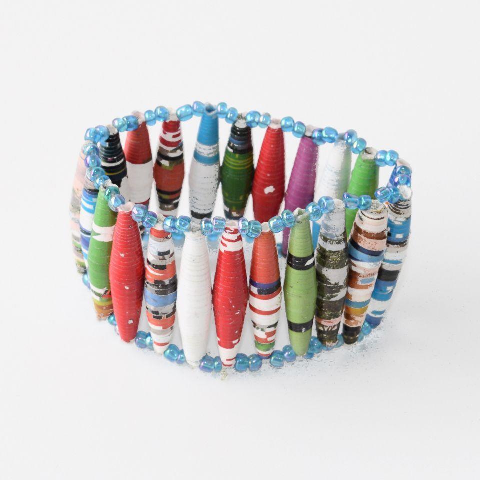 Wide parallel bead bracelet | Trada Marketplace