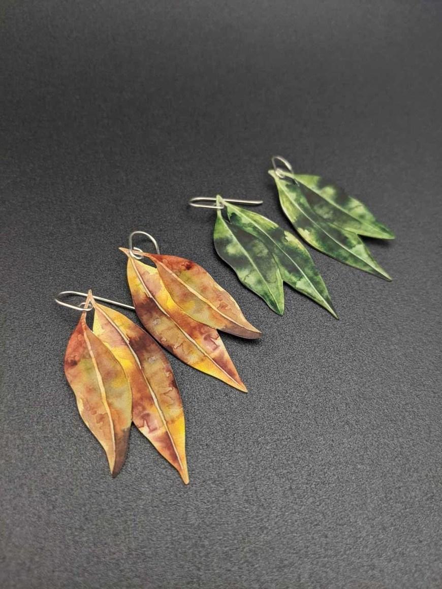 AUSTRALIANA – Gum leaf earrings   Trada Marketplace