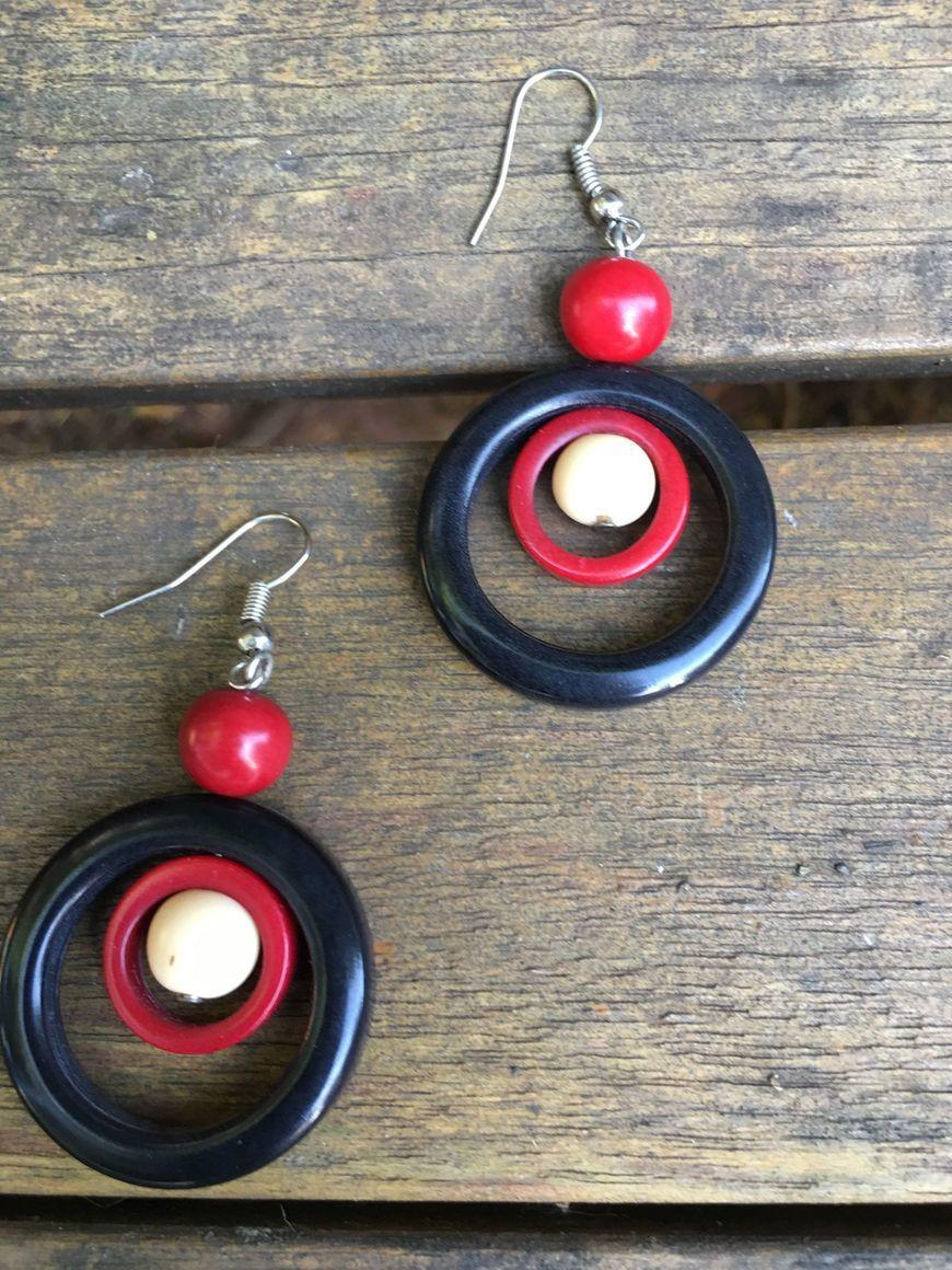 Rosario Tagua EarringsHand carv | Trada Marketplace