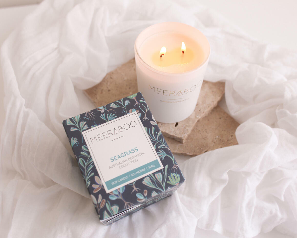 Seagrass Boxed Soy Candle | Trada Marketplace