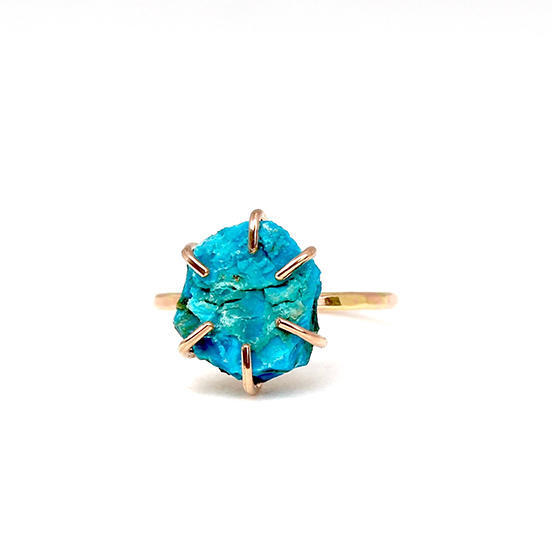 Chrysocolla Ring Gold Filled | Trada Marketplace