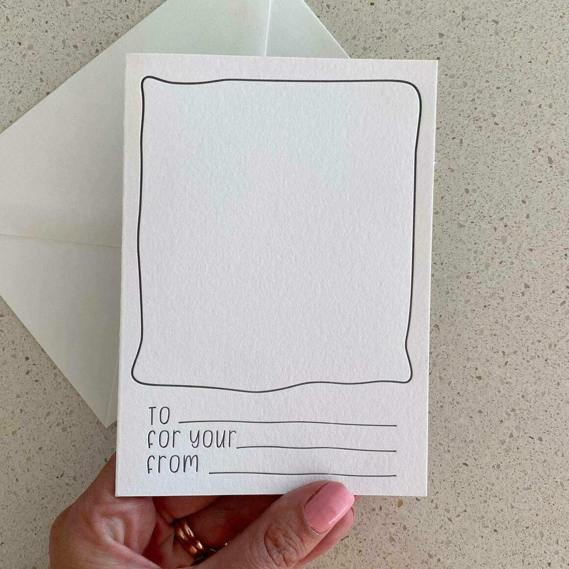 For The Kiddies   Letterpress Greeting Card   Trada Marketplace