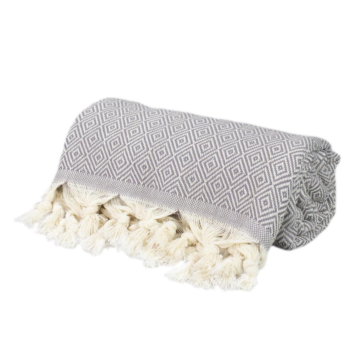 THICK TURKISH TOWEL FULL DARK GREY | Trada Marketplace