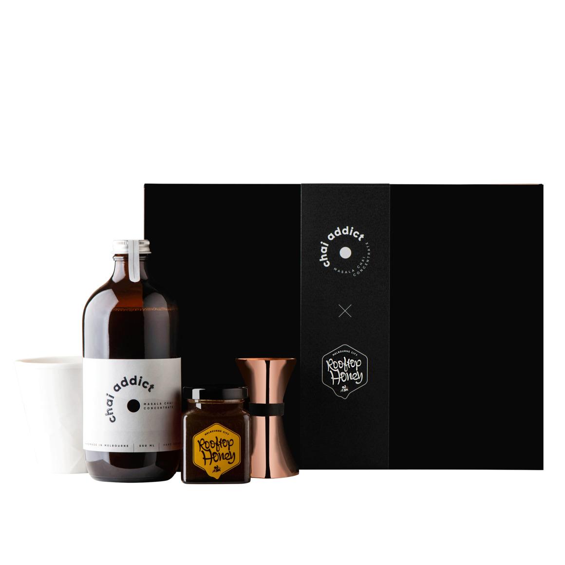 chai addict x rooftop honey gift box | Trada Marketplace