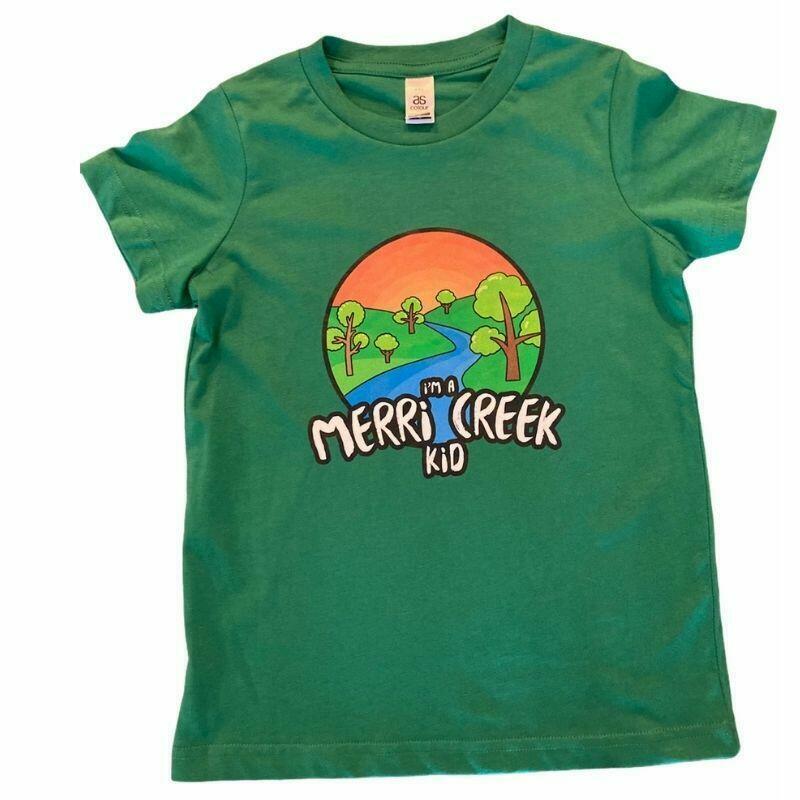 Merri Creek Kid T-Shirt in green   Trada Marketplace