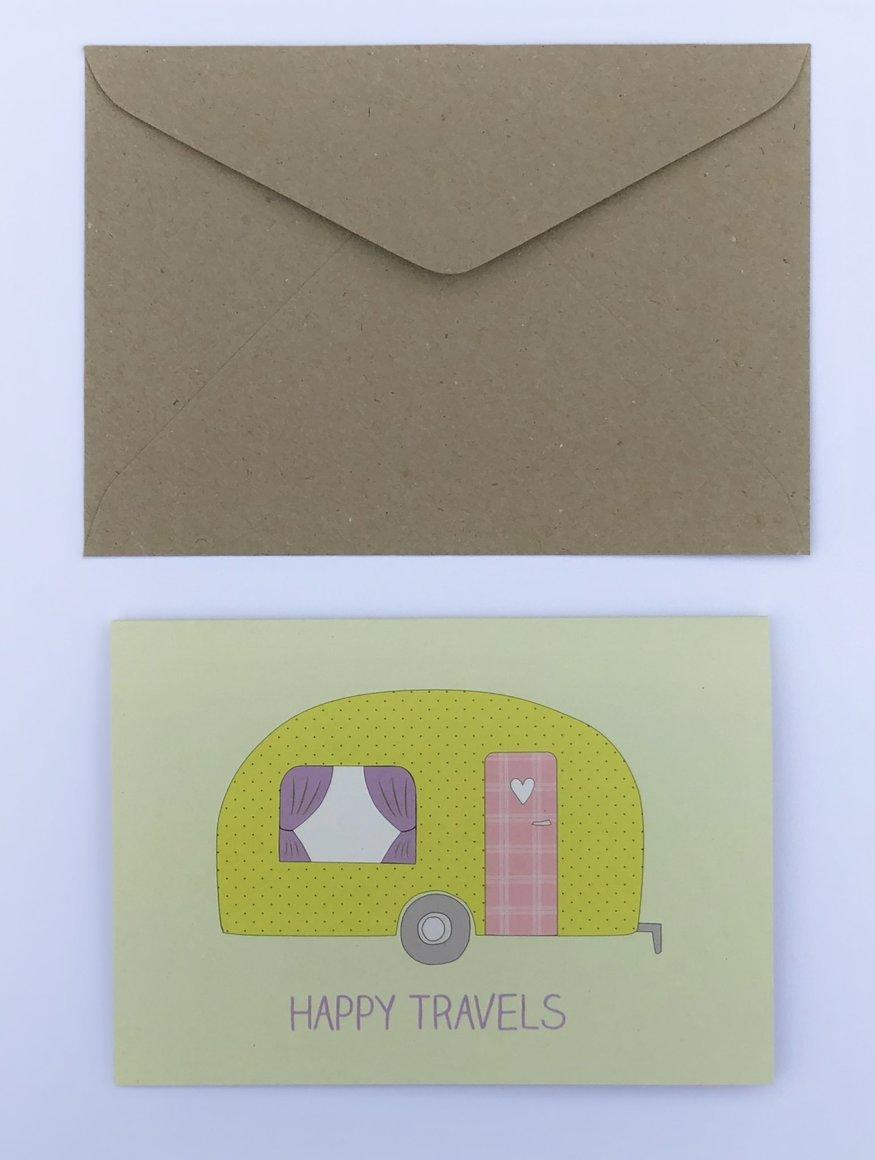 Happy Travels 100% Recycled Greeting Card | Trada Marketplace