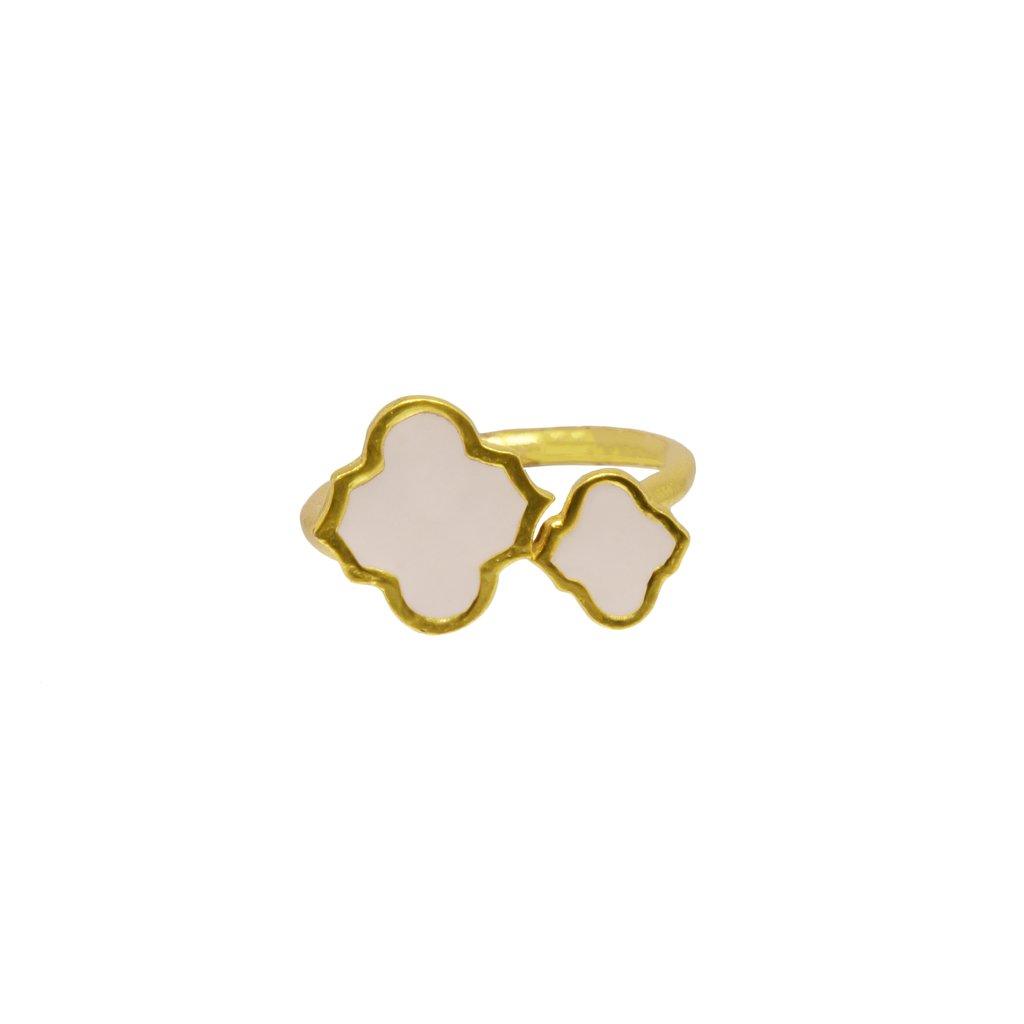 Arabesque Ring Pale Pink   Trada Marketplace