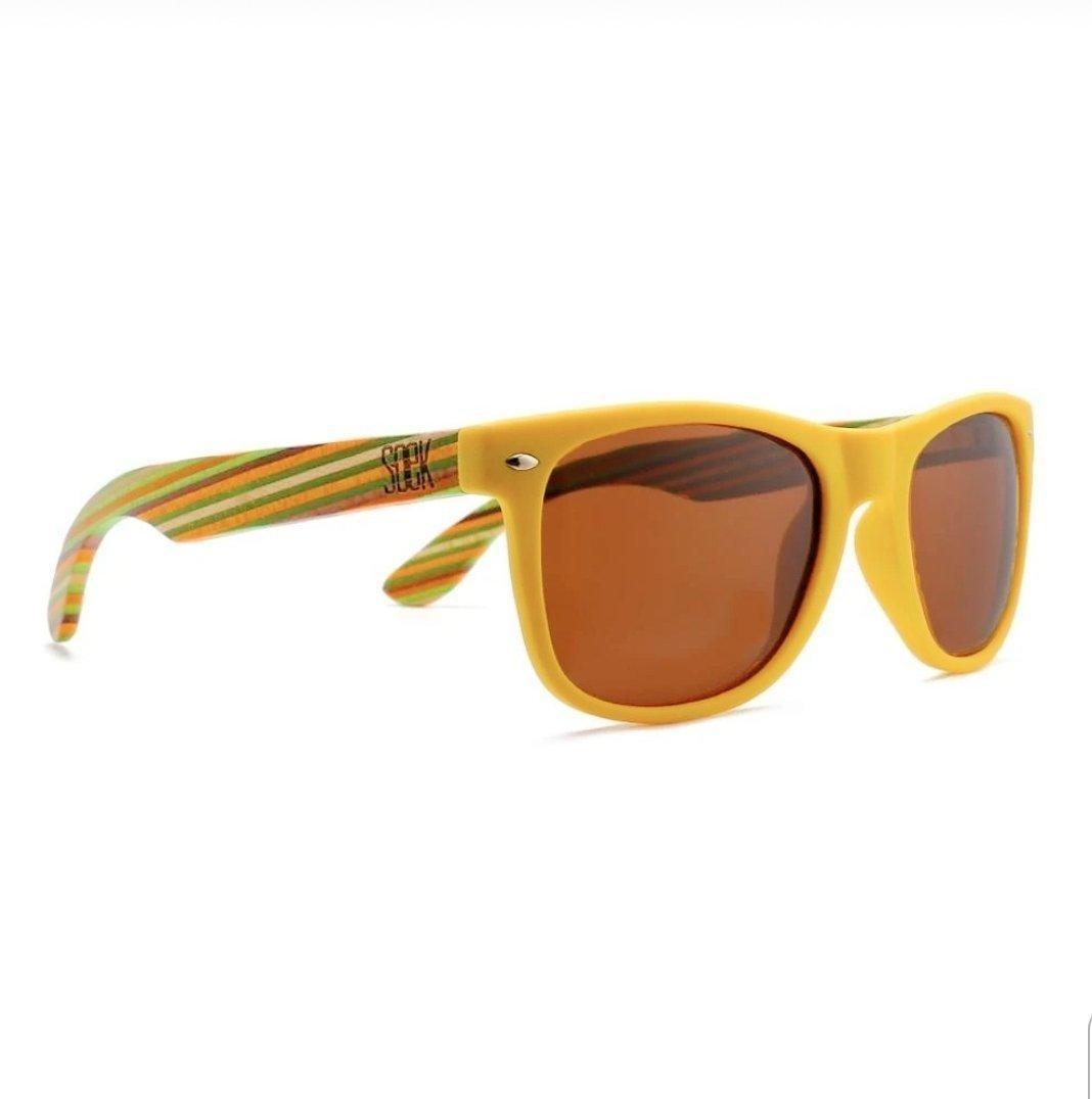 AUSTRALIAN SOEK - Yellow Sustainable Wooden Polarized Sunglasses  - Adult | Trada Marketplace