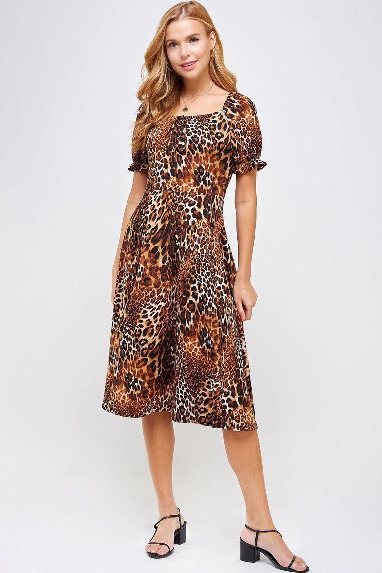 Joyous Animal Print Dress | Trada Marketplace