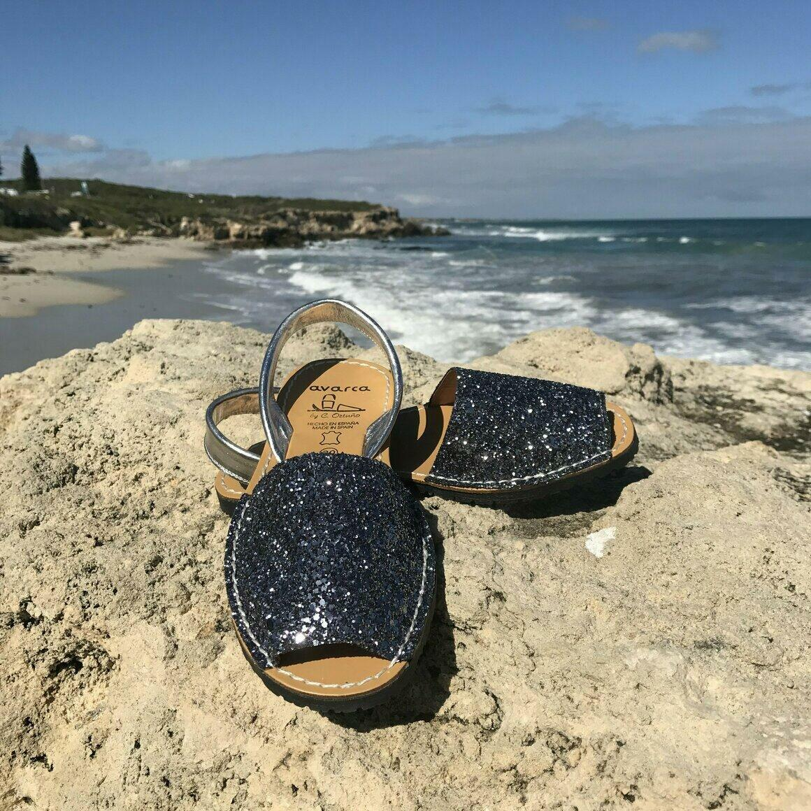 Cobalt Glitter Avarca | Trada Marketplace