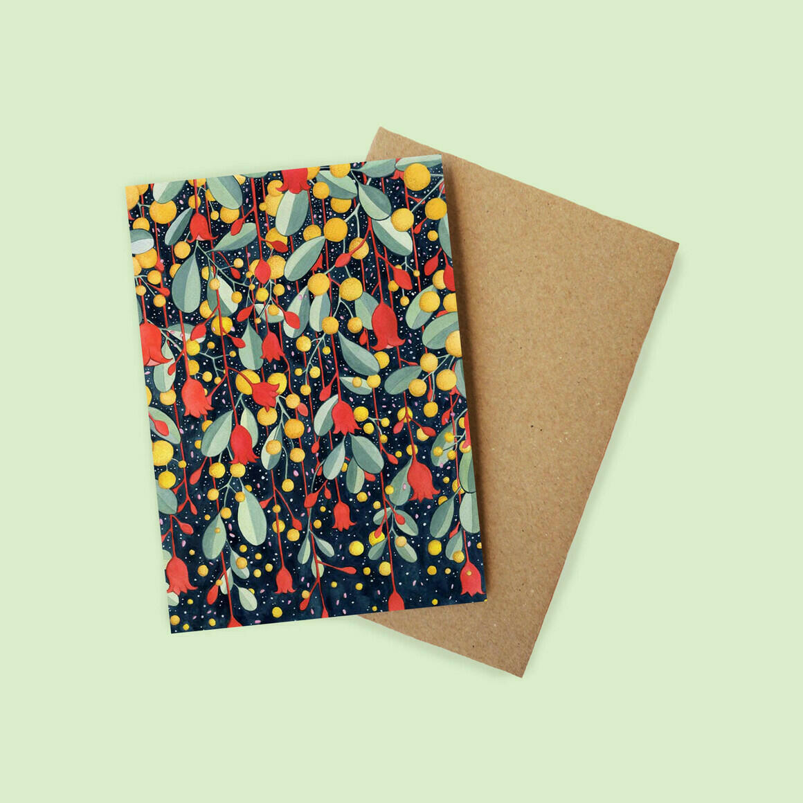 Greeting Card - Flame and Wattle  | Trada Marketplace