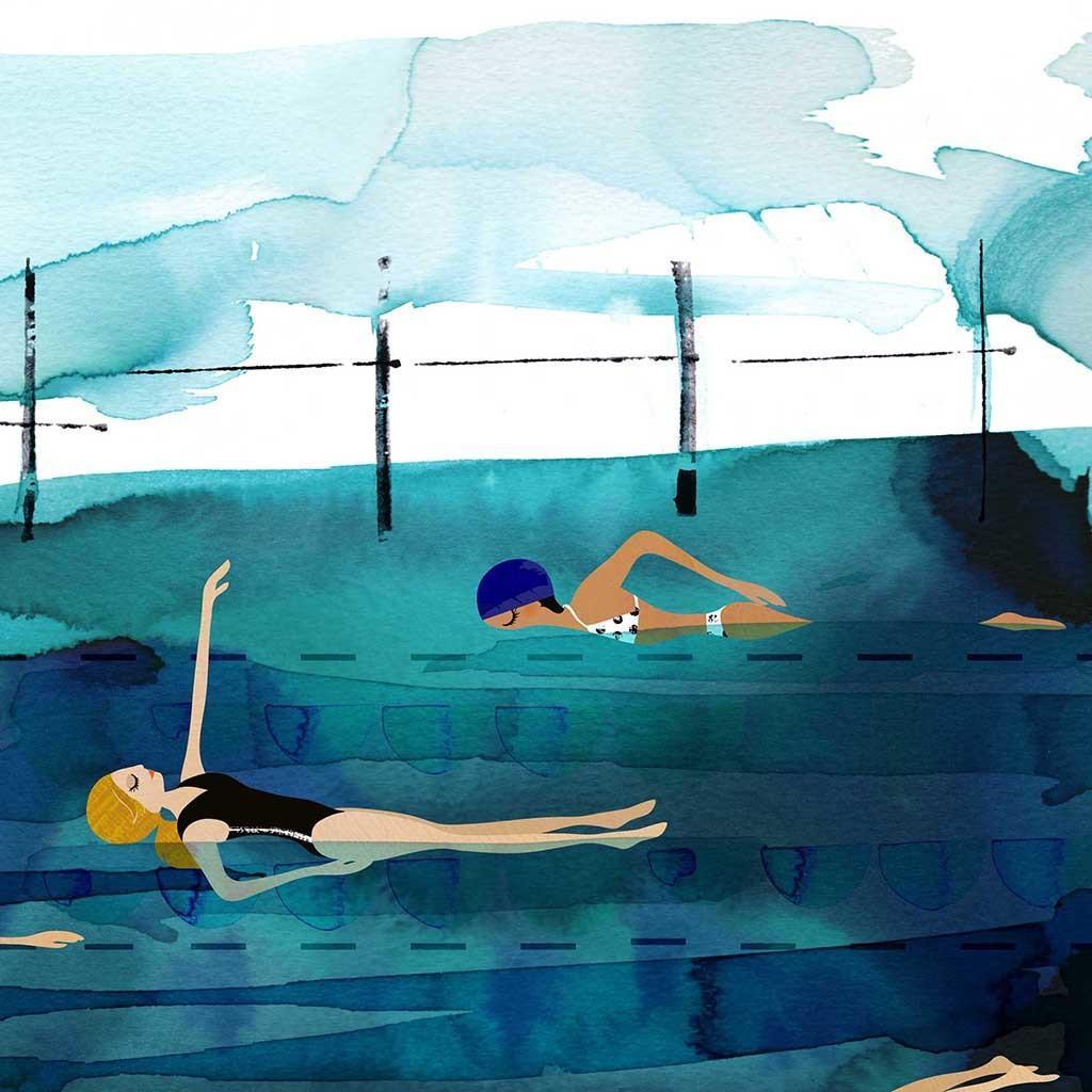 Deep Pool Art Print | Trada Marketplace