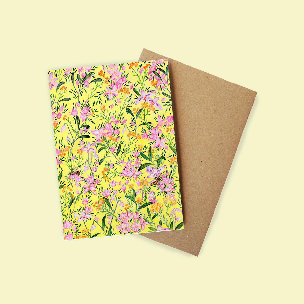 Greeting Card - Yellow Buttons | Trada Marketplace