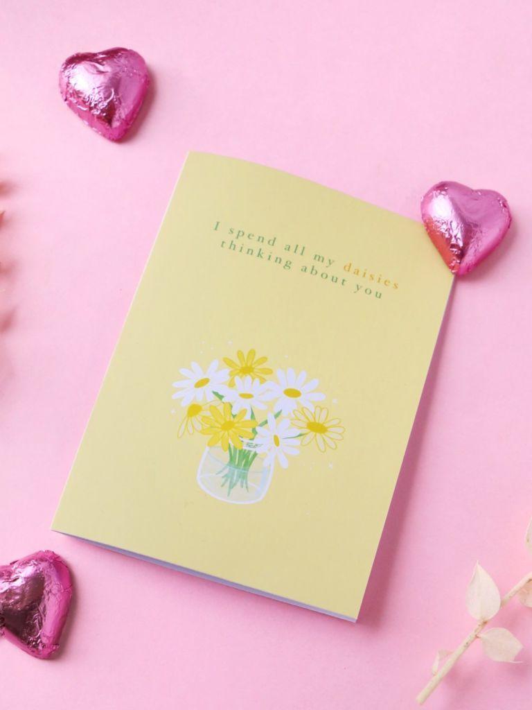Daisy Jars Card - Yellow | Trada Marketplace