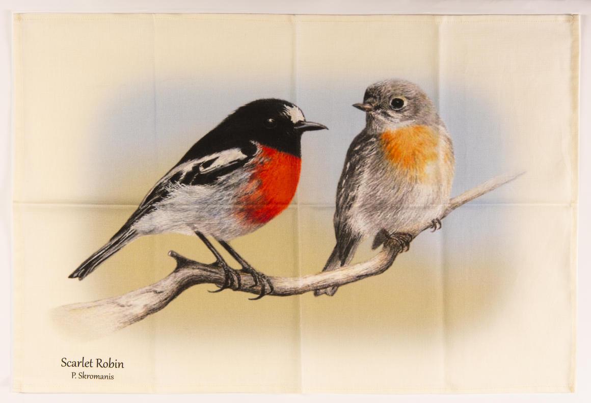 Tea Towel - Scarlet Robin Duo   Trada Marketplace