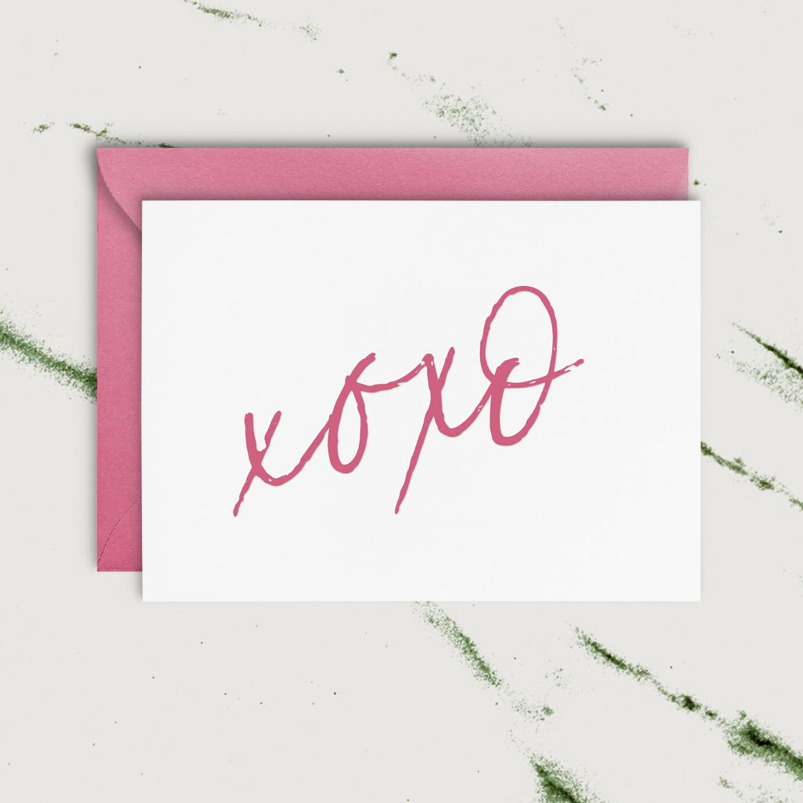 xoxo   Letterpress Greeting Card   Trada Marketplace