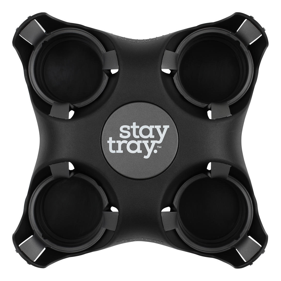 Stay tray Four Cup Holder Espresso   Trada Marketplace
