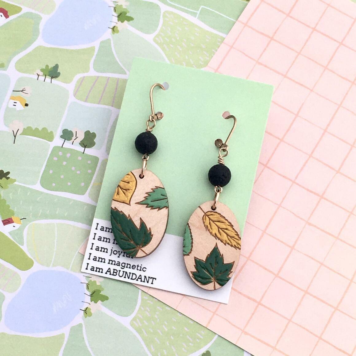 Oval Leaf Earrings   Trada Marketplace