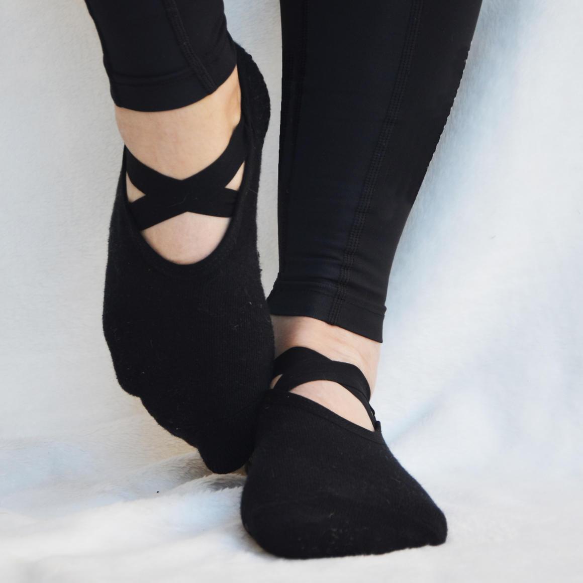 Black Ballet Non-Slip Grip Socks | Trada Marketplace