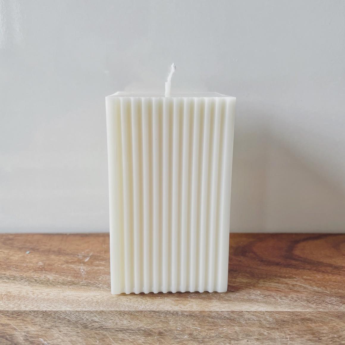 Creamy White    Rectangle Pillar Candle   Trada Marketplace